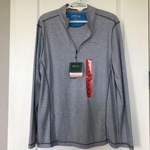 NWT Men's Orvis Sandy Point 1/4 Zip Pullover